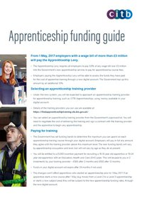 Apprenticeship Funding Guidance