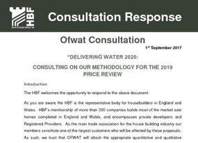 HBF Response to OFWAT Delivering Water 2020