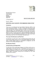 Broxtowe Local Plan Part 2 pre submission consultation