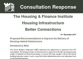 HBF - HFI Consultation - Proposed Recommendations to Improve the Delivery of Housing-related Infrastructure