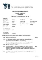 HBF Utilities Group meeting notes - 19.04.18
