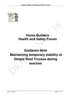 HBF Guidance Notes on the Safe Erection  Bracing of Roof Trusses Aug 17