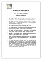 HBF H&S Committee - Terms of reference