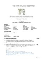 HBF Digital Construction Group Meeting Notes 09.05.18