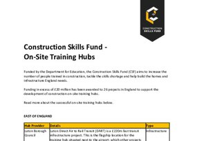 Construction Skills Fund Successful Hubs FINAL