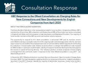 Appendix H -HBF Consultation Response Ofwat Consultation New Connections Charges for the Future