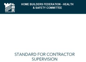 HBF Guidance for Contractor Supervision