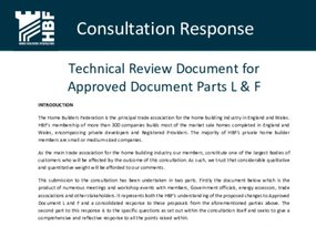 HBF - Technical Review of Approved Document for Building Regulations Part L F 06.02.20