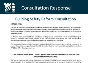 HBF - Consultation response to MHCLG's Building Safety Reform Programme FINAL 31.07