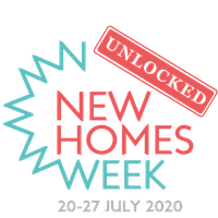New Homes Week Unlocked logo with date